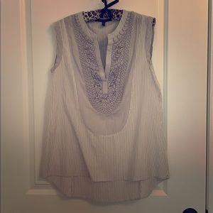 BCBG sleeveless shirt